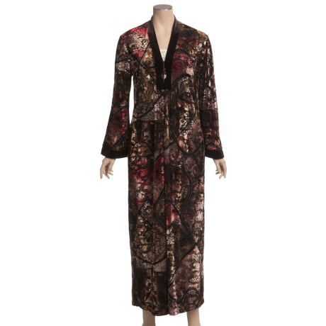 Diamond Tea Burnout Velvet Robe (For Women)