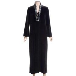 Diamond Tea Velvet Robe - Ruffled Satin Trim (For Women)