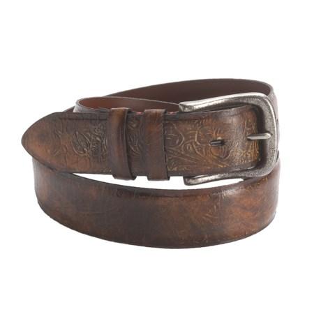 Torino Embossed Glove Leather Belt - 38mm (For Men)