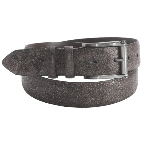 Torino Wood Grain Embossed Belt - 35mm, Calf Leather (For Men)