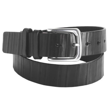 Torino Burnished Ribbed Kipskin Belt - 38mm, Leather (For Men)