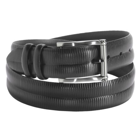 Torino Grooved Embossed Calf Leather Belt - 35mm (For Men)