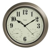 """Equity by La Crosse Technology 15"""" Clock - Temperature and Humidity Display"""