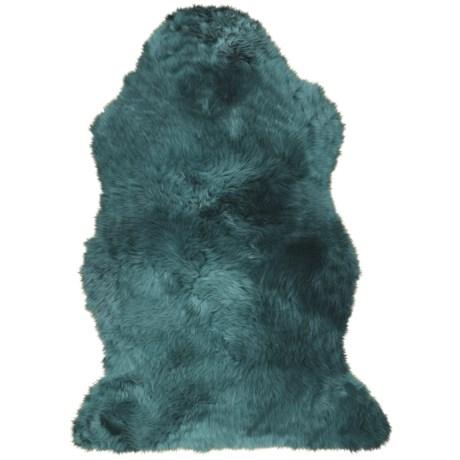 Auskin Brights Longwool Sheepskin Single Pelt Rug