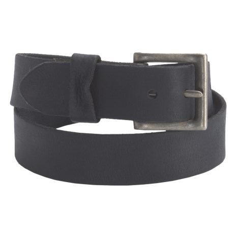 Leather Island by Bill Lavin Matte Leather Belt - 39mm (For Men)