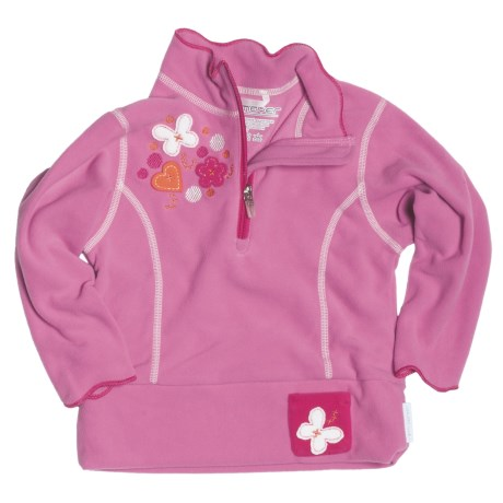 Obermeyer Gigi Pullover Shirt - Fleece, Zip Neck, Long Sleeve (For Little Girls)