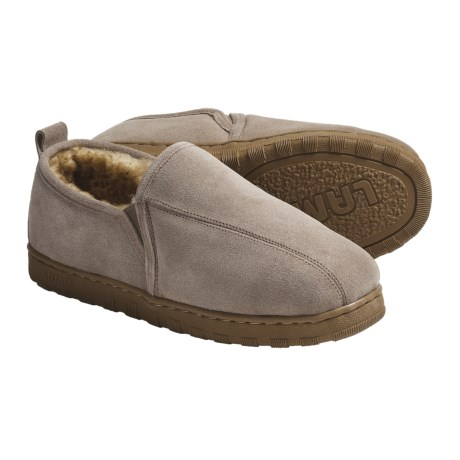 LAMO Footwear Romeo Slippers - Suede, Sheepskin-Lined (For Men)