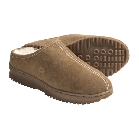 Lamo Suede Clog Slippers - Sheepskin Lining (For Men)