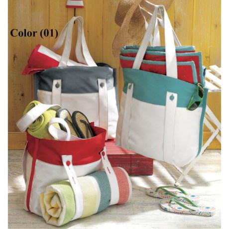 Tag Canvas Beach Tote Bag