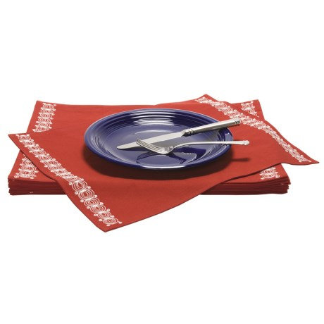 Tag Embroidered Placemats - Set of 12
