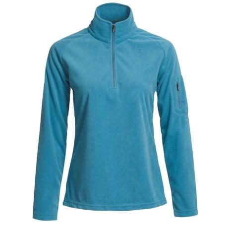 Descente Helen Fleece Pullover - Zip Neck, Long Sleeve (For Women)