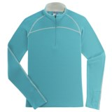 Ibex Zepher Sport Base Layer Top - Merino Wool, Zip Neck, Midweight Long Sleeve (For Women)