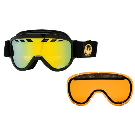 Dragon Optical D1ST Snowsport Goggles - Ionized Lens, Extra Lens