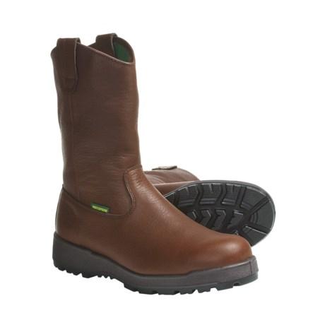 """John Deere Footwear 11"""" Wellington Work Boots - Oiled Leather (For Men)"""