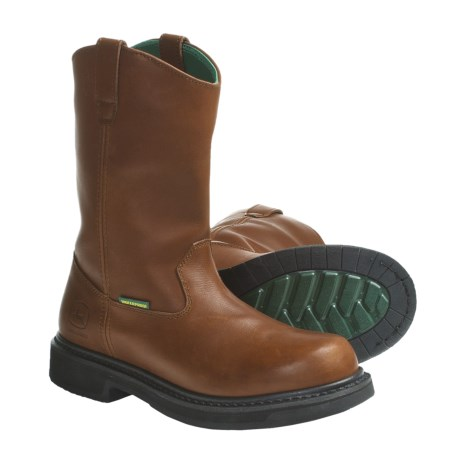"John Deere Footwear 11"" Camel Work Boots - Waterproof (For Men)"