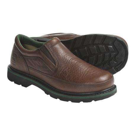 John Deere Footwear Copper KettleTwin Gore Work Shoes - Oiled Leather, Slip-Ons (For Men)