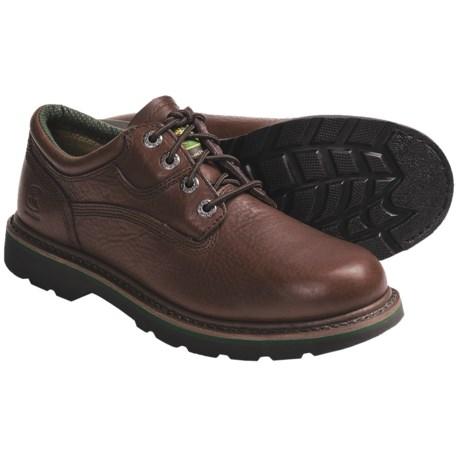 John Deere Footwear Brown Walnut Oxford Work Shoes - Oiled Leather (For Men)