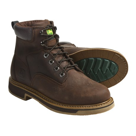 "John Deere Footwear 6"" Work Boots - Oiled Leather, Lace-Ups (For Men)"