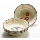 Le Cadeaux Verdura Cereal Bowls - Set of 4, Melamine