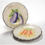 """Le Cadeaux Verdura 9"""" Salad Plates - Set of 4, Melamine"""