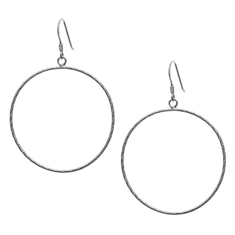 Silver Express Flash Hoop Earrings - Sterling Silver