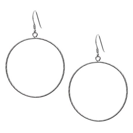 Silver Express Flash Hoop Earrings - Sterling Silver