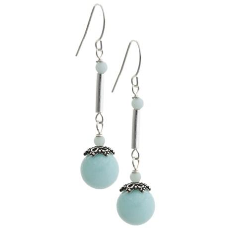 Silver Express Pendulum Bead Earrings