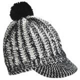 Screamer Powder Puff Billed Beanie Hat (For Women)