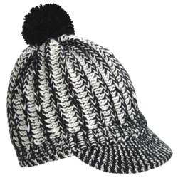 Screamer Powder Puff Billed Beanie Hat (For Women)