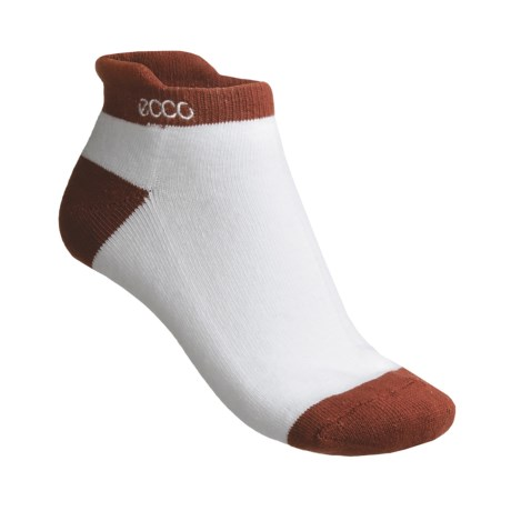 ECCO Notch No-Show Socks - Pima Cotton, Below the Ankle (For Women)