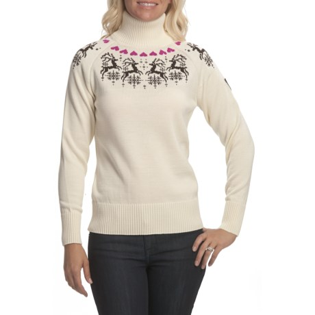 Dale of Norway Reindeer Turtleneck Sweater - Merino Wool (For Women)