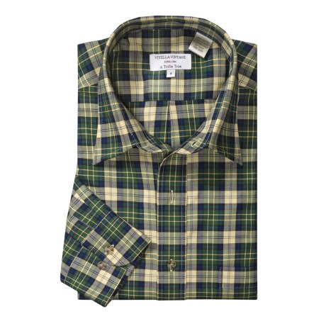 Viyella Cotton Plaid Sport Shirt - Button Down, Long Sleeve (For Men)