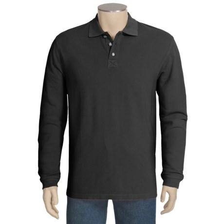 True Grit Jersey Pique Polo Shirt - Long Sleeve (For Men)