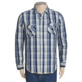 True Grit Indigo Shirt - Long Roll-Up Sleeve (For Men)