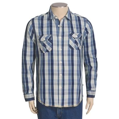 True Grit Indigo Shirt - Long Roll-Up Sleeve (For Men)