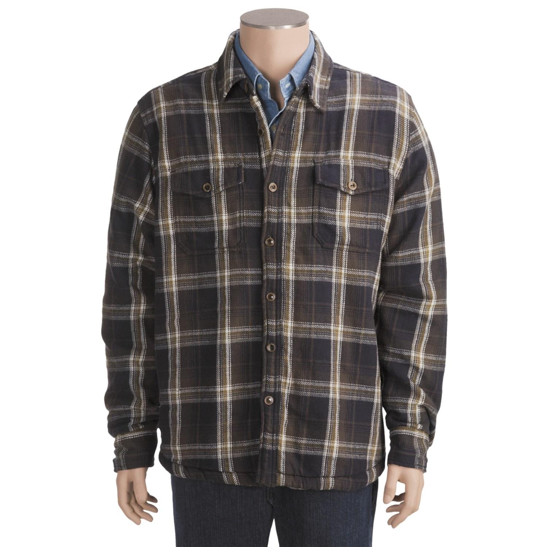 True grit vintage plaid shirt jacket for men 4705f for Plaid shirt jacket mens