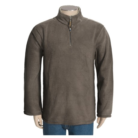 True Grit Sueded Sherpa Pullover - Zip Neck, Long Sleeve (For Men)