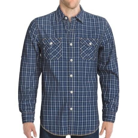 True Grit Indigo Wash Plaid Shirt - Long Sleeve (For Men)