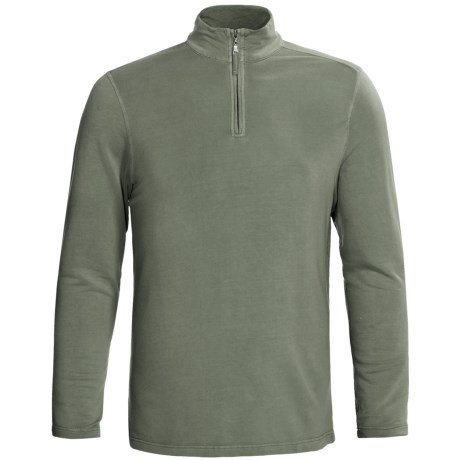 True Grit Pullover Shirt - TENCEL®, Zip Neck, Long Sleeve (For Men)