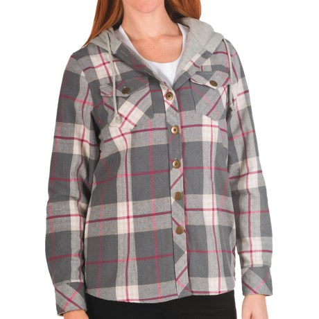 Nina Capri Missy Flannel Shirt Jacket - Thermal Lining (For Women)