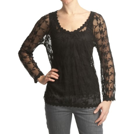 True Grit Vintage Lace Shirt - Long Sleeve (For Women)