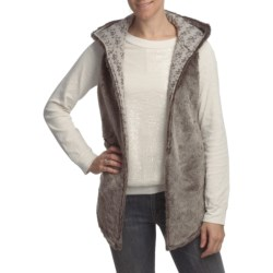 True Grit Vintage Long Hood Vest - Vintage Print Lining (For Women)