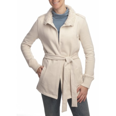 True Grit Luxe Fleece Tie Jacket (For Women)