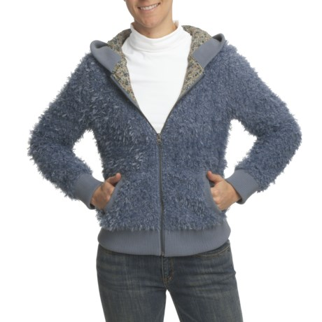 True Grit Soft Mohair Jacket - Full-Zip, Indian Floral Lining (For Women)