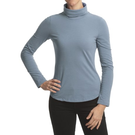 True Grit Sueded Jersey Turtleneck - Long Sleeve (For Women)