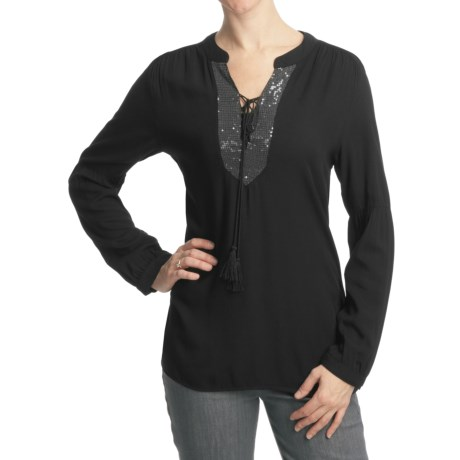 True Grit Sequin Shirt - Rayon Knit, Long Sleeve (For Women)