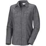 Columbia Sportswear Tinton Trail Shirt - Cotton Slub Chambray, Long Sleeve (For Plus Size Women)