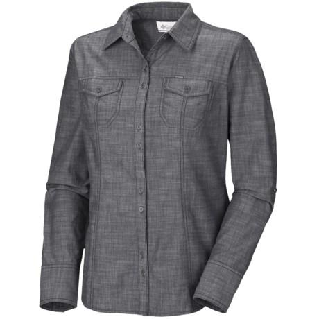 Columbia Sportswear Tinton Trail Shirt - Cotton Slub Chambray, Long Sleeve (For Plus Size Women)