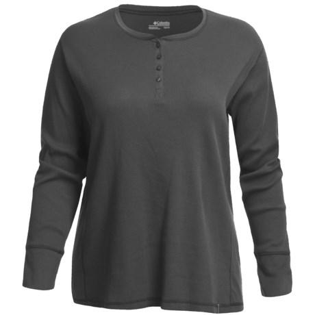 Columbia Sportswear Crawlin Crew Thermal Henley Shirt - Stretch Cotton (For Plus Size Women)