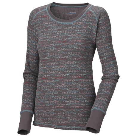 Columbia Sportswear Crawlin Crew Printed Thermal Top - Stretch Cotton (For Women)